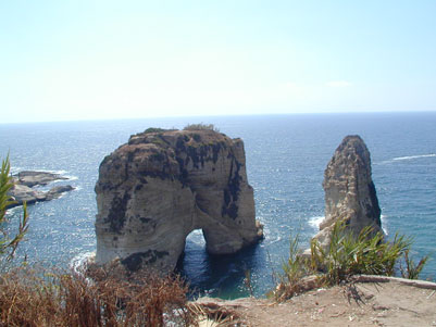 """Roques t�piques del litoral, al costat del """"passeigmar�tim"""""""