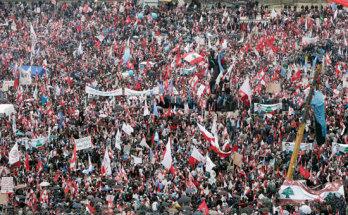 Manifestació pel tercer aniversari de la mort del presidentHariri