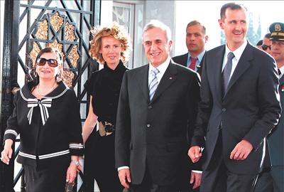 Els presidents del Liban i de Siria