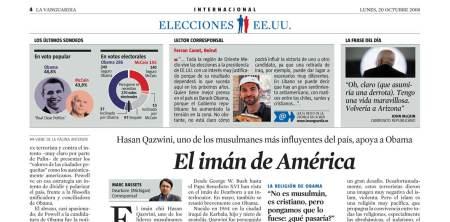 Col·locada a La Vanguardia d'ahir