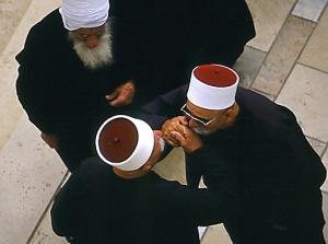 Drusos amb els seus vestits tradicionals (i habituals)
