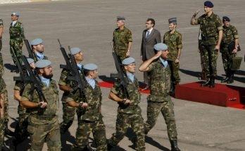 Visita del Princep Felip a les tropes espanyoles a la base de Marjayoun