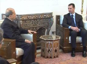 Aoun i el president siri Assad