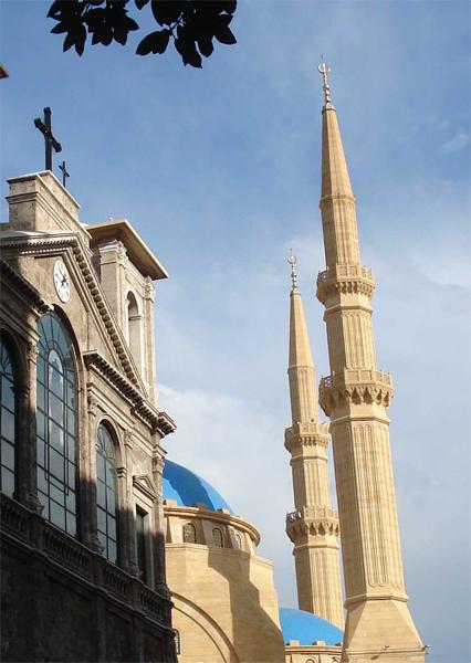 La catedral i la mesquita, juntes a Beirut