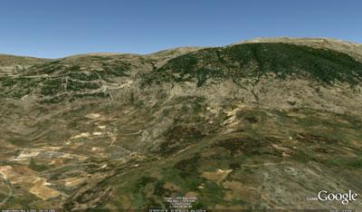 Barouk, vist a Google earth