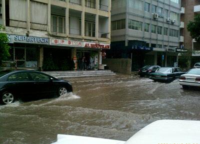 Efectes de la pluja a Badaro